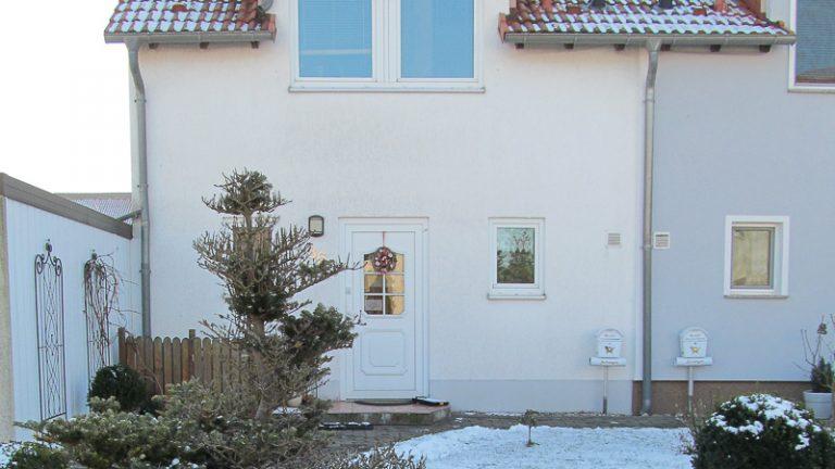 Eingangsgestaltung mit Vordach