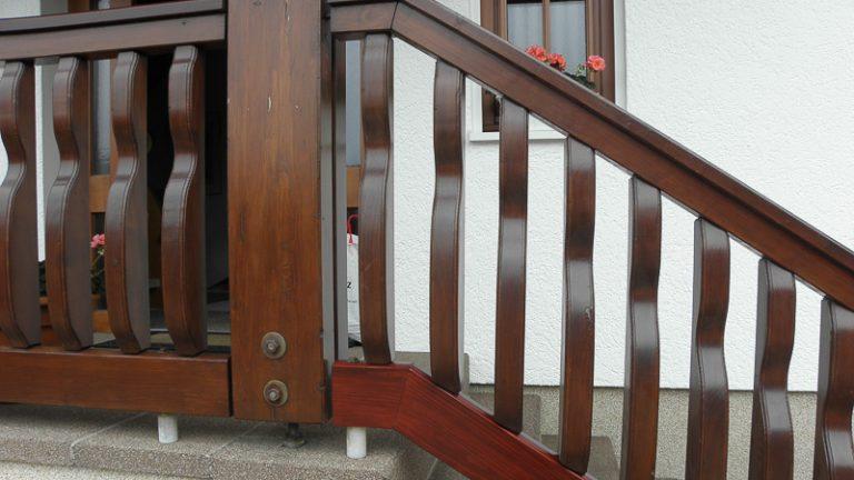 Holzgeländer Reparatur