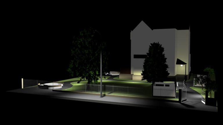 Visualisierung Außenanlage Licht