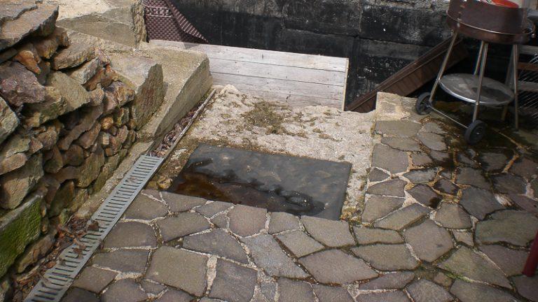 Natursteinmauer und Wege Kohren-Salis