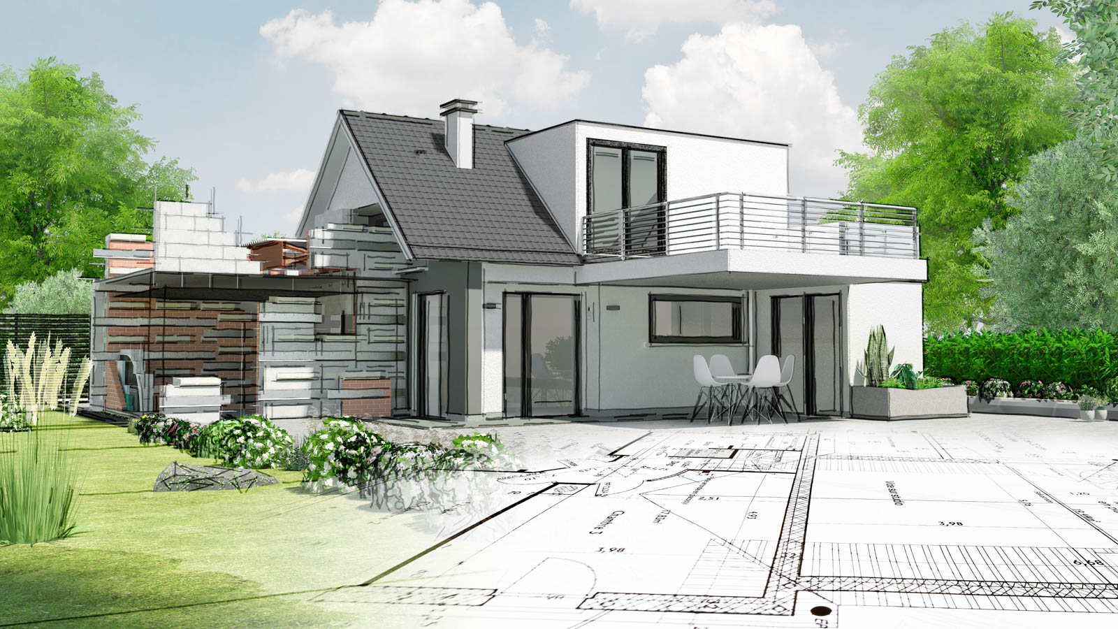 Neubauten, Anbauten, Umbauten, Wohnraumerweiterungen